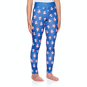 Derby House Unicorn Childrens Riding Tights - Blue