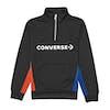 Converse Colourblock Track Quarter Zip Jacket Boys Zip Hoody - Black