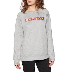 Burton Oak Crew Womens Sweater - Grey Heather