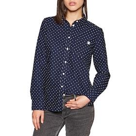 Superdry Winter Oxford Shirt Womens Shirt - Navy Spot