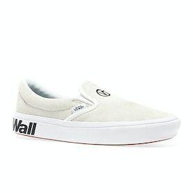 Vans Comfycush Womens Slip On Shoes - Distort Blanc Black