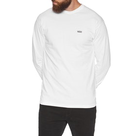 T-Shirt LS Vans Left Chest Hit - White Black