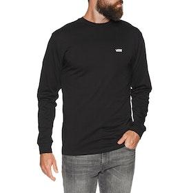 Vans Left Chest Hit Long Sleeve T-Shirt - Black White