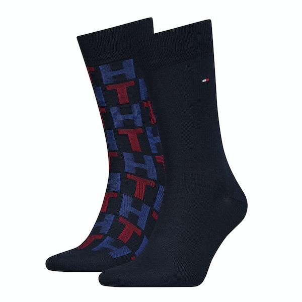 Fashion Socks Tommy Hilfiger 3 Pack Mixed Stripes Giftbox
