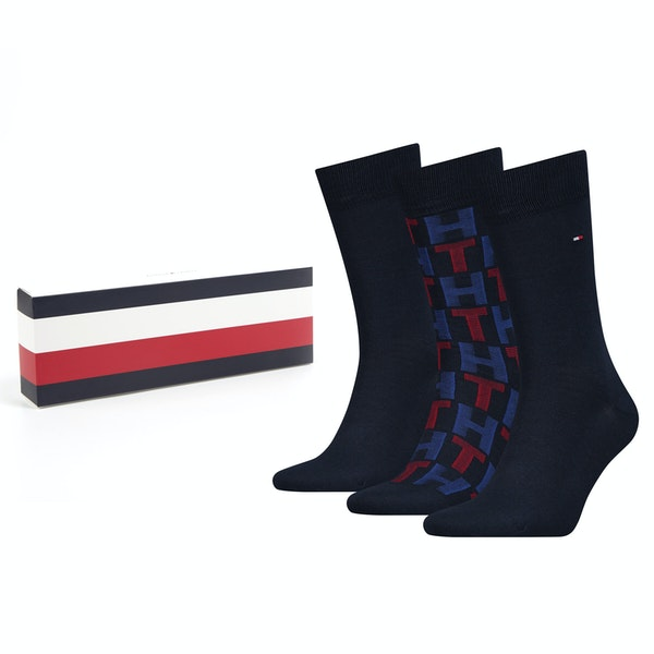 Tommy Hilfiger 3 Pack Mixed Stripes Giftbox Socks