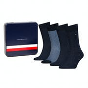Meias Tommy Hilfiger 4 Pack Mixed Dots Giftbox