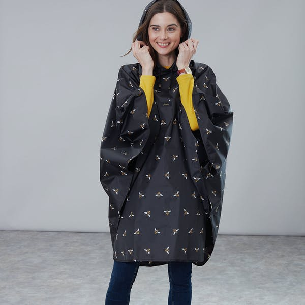 Joules Printed Dames Poncho