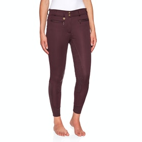 Derby House Elite High Waist Gel Full Seat Winter Ladies Riding Breeches - Merlot
