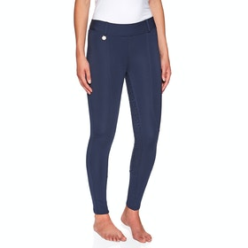 Derby House Pro Gel Winter Ladies Riding Tights - Navy
