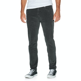 Superdry Slim Tyler Cord Five Pocket Trousers - Washed Black