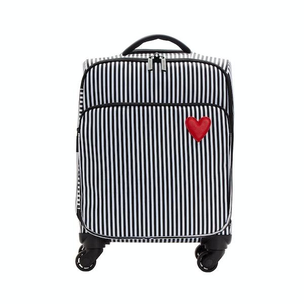 Lulu Guinness Hearts Stripes Felicity Trolley Luggage