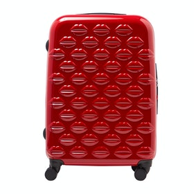 Bagaż Damski Lulu Guinness Medium Lips Hardside Spinner - Classic Red
