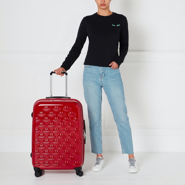 Lulu Guinness Medium Lips Hardside Spinner Women's Luggage