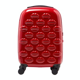 Bagaż Damski Lulu Guinness Small Lips Hardsided Spinner - Red