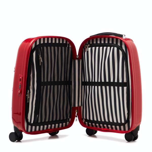 Lulu Guinness Small Lips Hardsided Spinner Женщины Багаж
