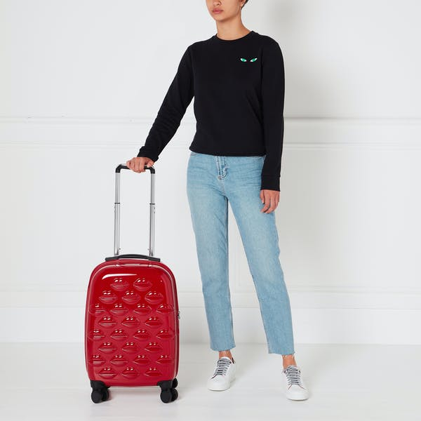 Lulu Guinness Small Lips Hardsided Spinner Women's Luggage