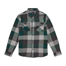 Vans Box Flannel Boys Shirt - Trekking Green Grey Heather