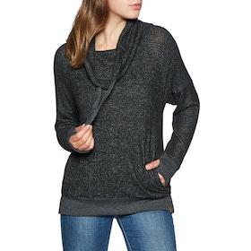 Rip Curl Cosy Fleece Womens Sweater - Black Marled