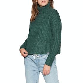 Superdry Dahlia Roll Neck Womens Sweater - Emerald Green
