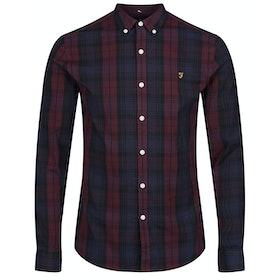 Farah Brewer Tartan Shirt - Red