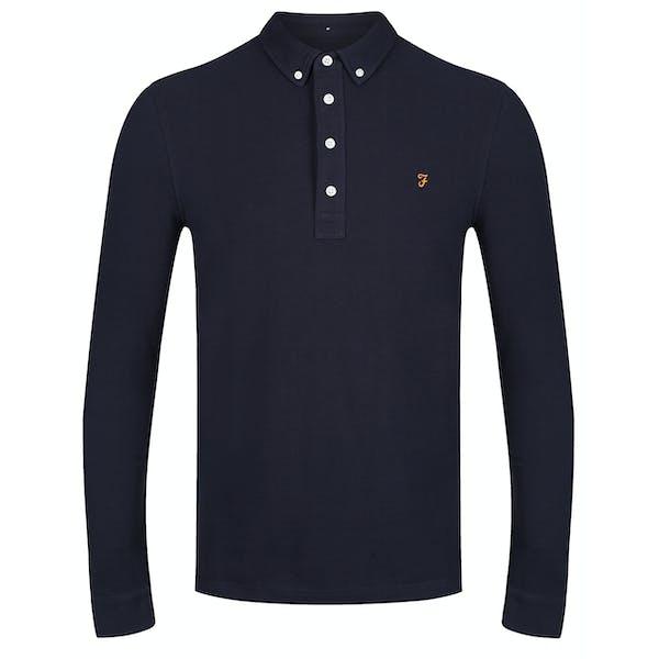 Farah Ricky Long Sleeve Poloshirt