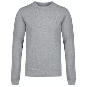 Farah Tim Crew Sweater - Light Grey Marl