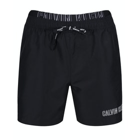Calvin Klein Medium Double Waistband Swim Shorts - Pvh Black