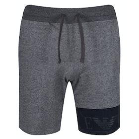 Emporio Armani Knit Bermuda Shorts - Grigio Melange Scuro