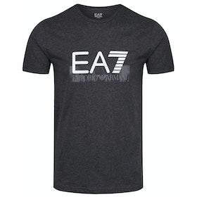 T-Shirt a Manica Corta EA7 Cotton - Carbon Melange