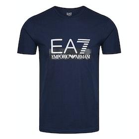 Футболка с коротким рукавом EA7 Cotton - Navy Blue