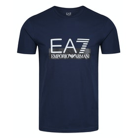 T-Shirt a Manica Corta EA7 Cotton - Navy Blue