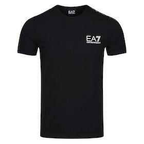 T-Shirt a Manica Corta EA7 Cotton Stretch 2 - Black