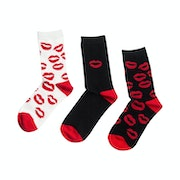 Lulu Guinness 3 Pack Crew Women's Socks