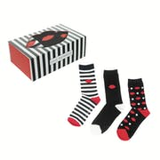 Lulu Guinness 3 Pack Print Gift Set Damen Socken