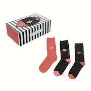 Lulu Guinness 3 Pack Print Gift Set Women's Fashion Socks