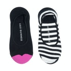 Lulu Guinness 2 Pack Peds Women's Fashion Socks