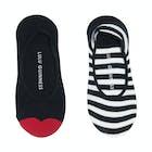Lulu Guinness 2 Pack Peds Damen Socken