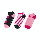 Lulu Guinness 3 Pack Trainer Women's Socks