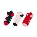 Lulu Guinness 3 Pack Trainer Women's Socks
