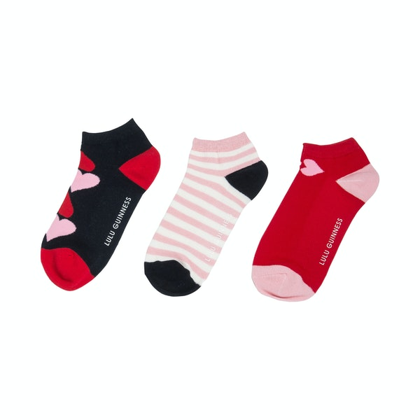 Lulu Guinness 3 Pack Trainer Damen Fashion Socks