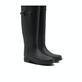 Hunter Original Refined Womens Wellies - Monotone Black