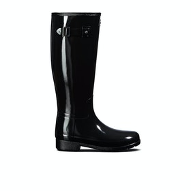 Hunter Original Refined Gloss Womens Wellies - Monotone Black