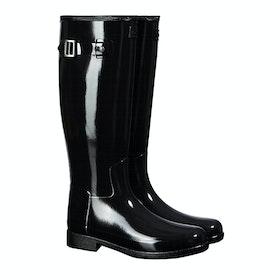 Stivali di Gomma Donna Hunter Original Refined Gloss - Monotone Black