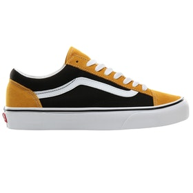 Vans Style 36 Trainers - Vintage Suede Mango Mojito Black