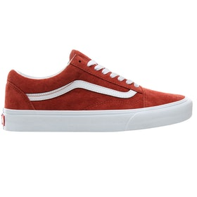 Vans Old Skool Pig Suede Trainers - Burnt Brick True White