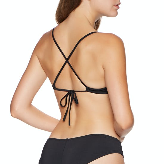 RVCA Solid Cross Back Bikini Top