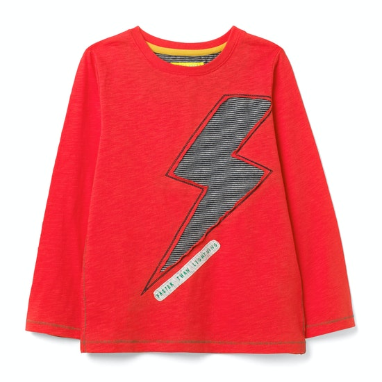 White Stuff Fast As Lightning Jersey Boys Long Sleeve T-Shirt