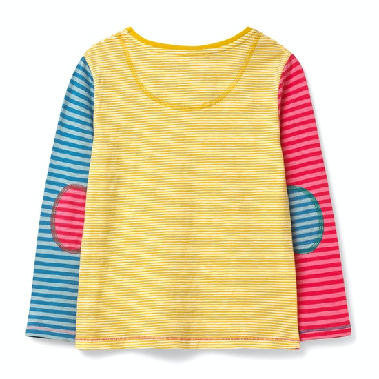White Stuff Racing Stripe Jersey Girls Long Sleeve T-Shirt