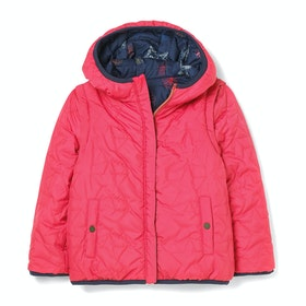 Veste White Stuff Scribble Reversible Coat Gilet - Btl Blu Pr
