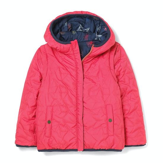 White Stuff Scribble Reversible Coat Gilet Girls Jacket